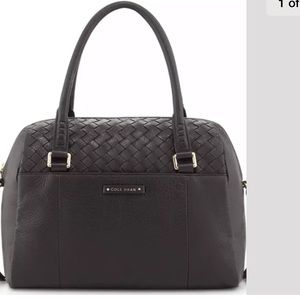 Cole haan Sam woven leather satchel